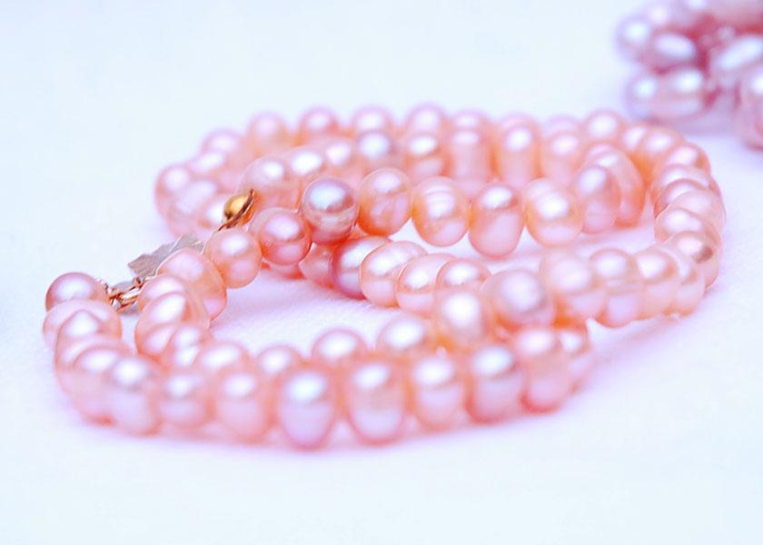 Натуральный жемчуг, ожерелье