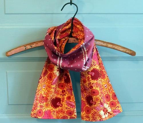 шелковый двусторонний шарф