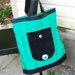 Зеленая складная сумка авоська на повседневку