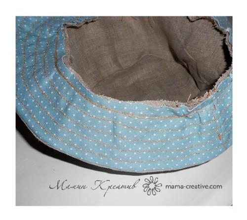 соединение тульи шляпы с полями
