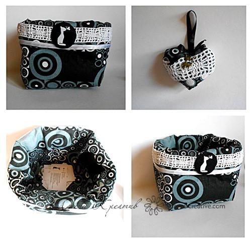 корзинка из ткани для мелочей