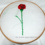 Вышивка лентами цветок гвоздика