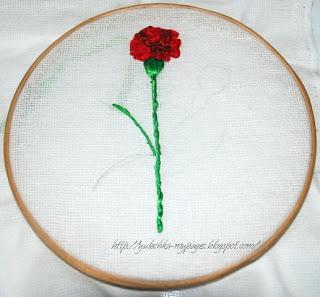 вышить лентами цветок