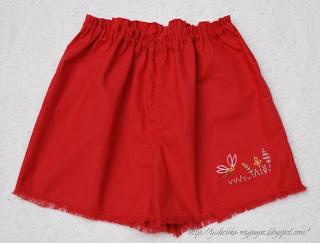 летние шорты из ткани