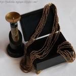 Бисерное ожерелье своими руками