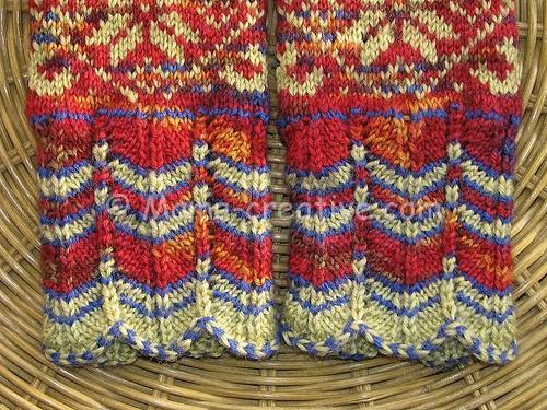 Рукавица вязание узор