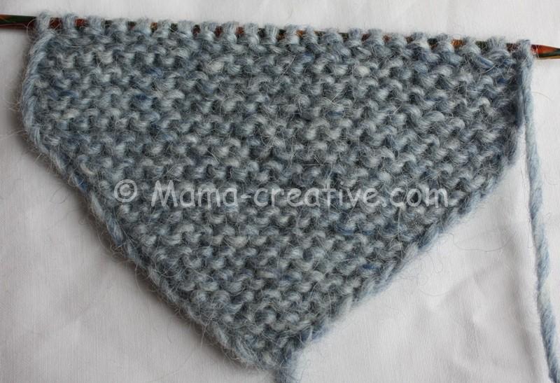 Вяжем короткий шарф с застёжкой
