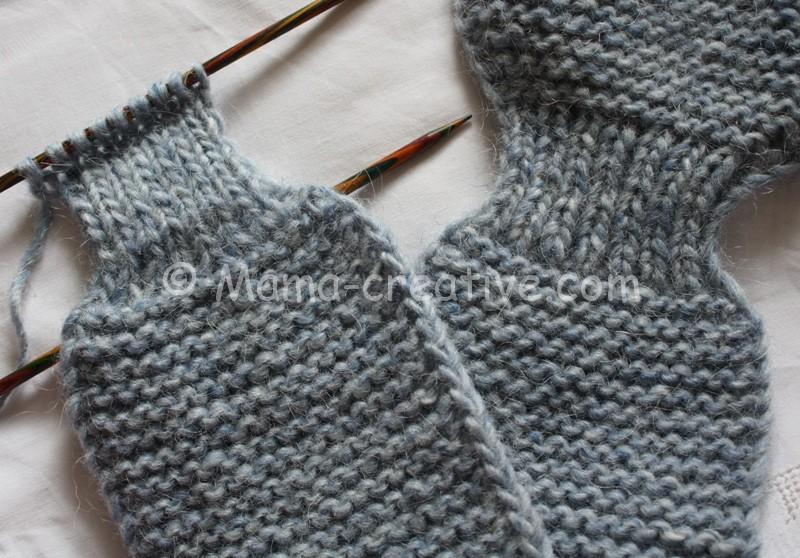 Короткий шарф с петелькой Мастер-класс