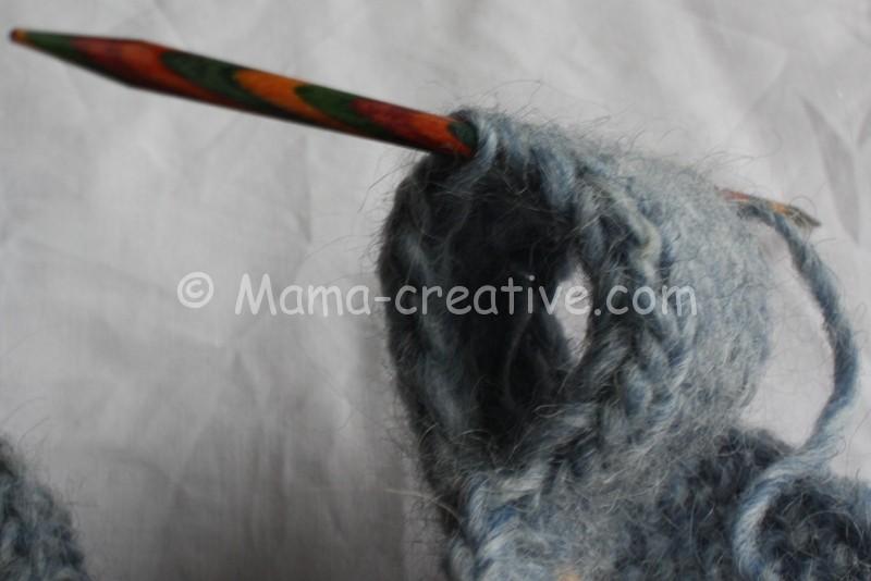 Короткий шарф снуд вяжем сами