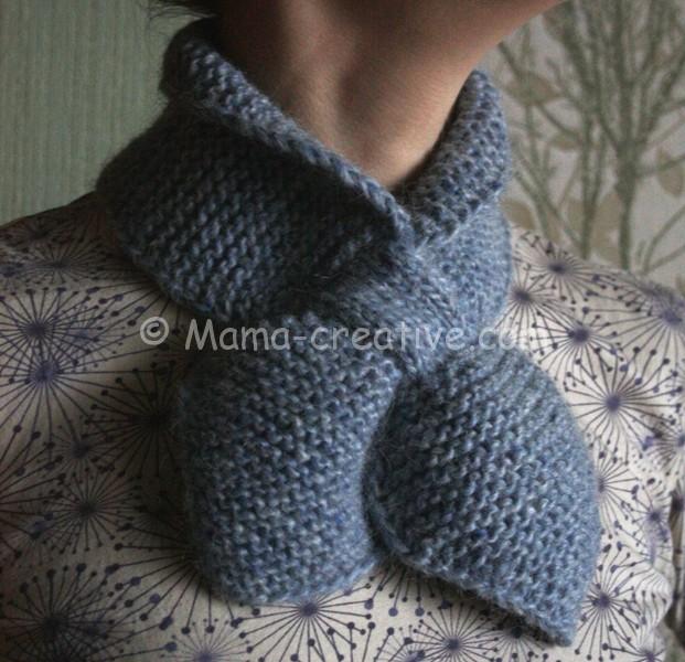 Снуд шарф петля с застёжкой вяжем сами