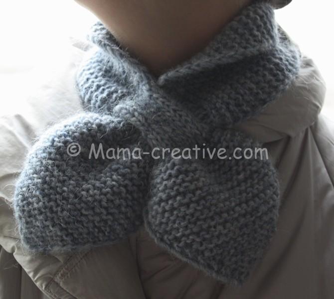 Связать шарф с петлёй