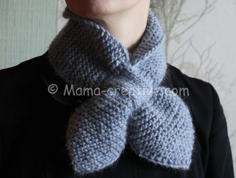 Маленький шарф связать