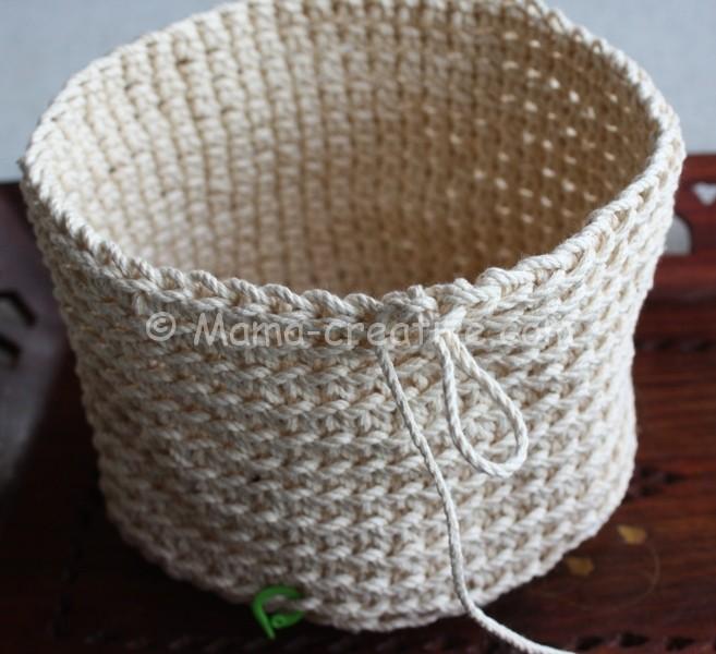Корзинка из верёвки