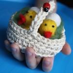 Детское творчество: цыплята из шерсти, мокрое валяние