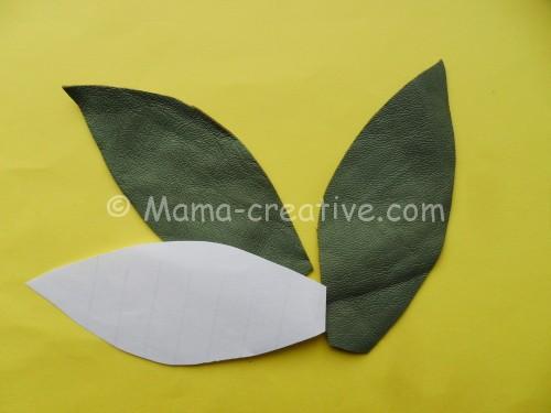 шаблон для листьев