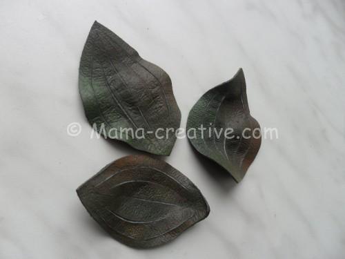термообработка листьев