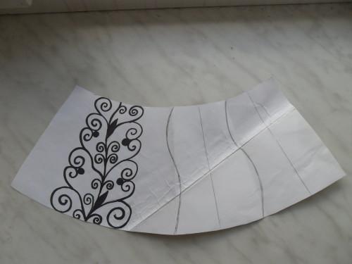 нанесение фрагмента рисунка