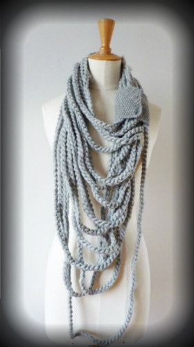шарф плетеный из косичек